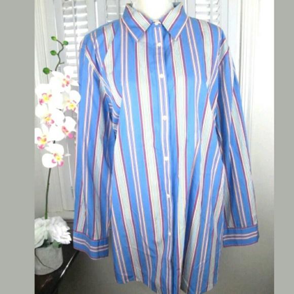 acde85042 Ralph Lauren Tops | Plus Size 22w Multi Stripe Blous | Poshmark